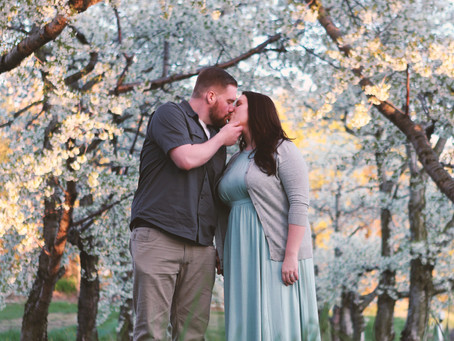 The blossoms are here! Engagement Shoot