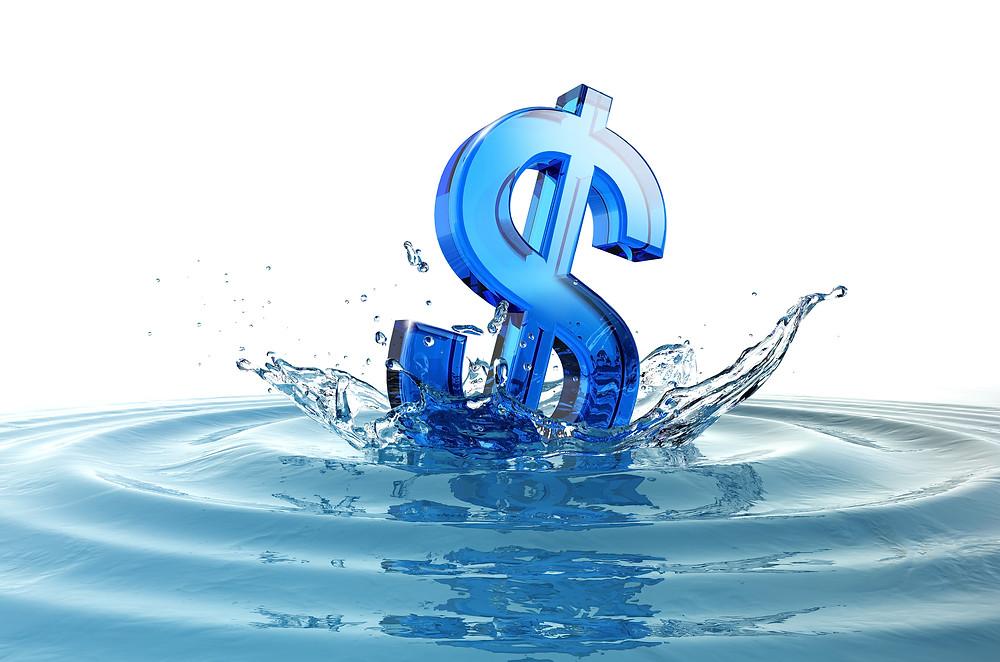 Деньги - вода, объясняет репетитор по английскому