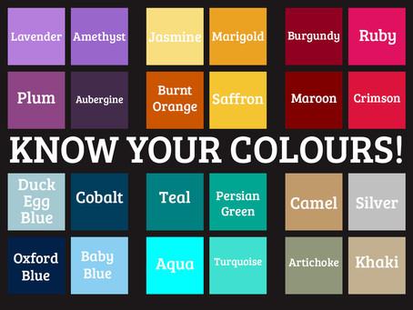 Английские цвета