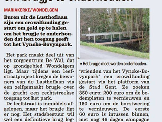 Crowdfunding brugje Lusthoflaan
