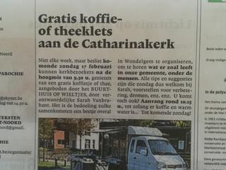 Zondag 17/02 koffie en verse soep op den Dries!