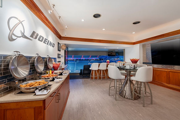 Capital One Arena Boeing Suite with food