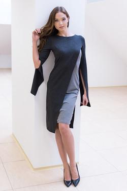 sukienka szara
