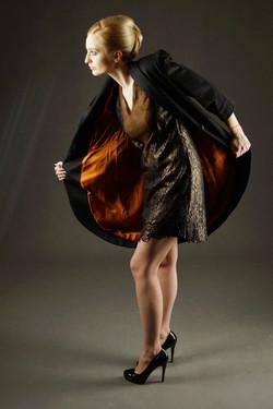 Płaszcz kaszmirowy i sukienka