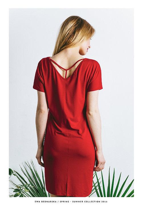 Sukienka Y czerwona