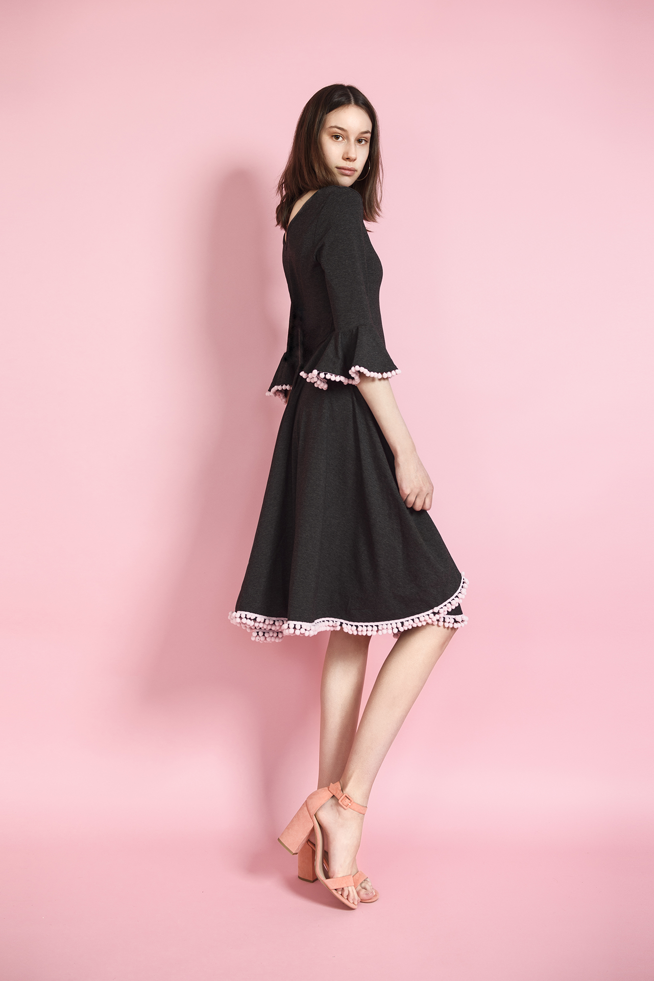 sukienka frędzle
