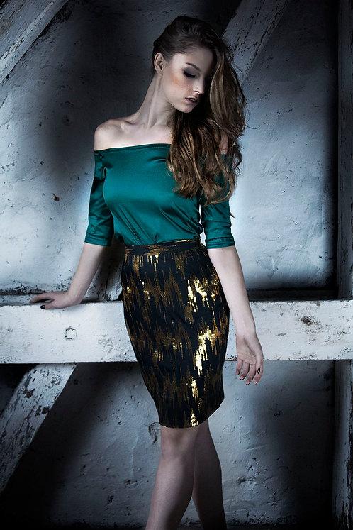 Spódnica złoty zygzak / Skirt