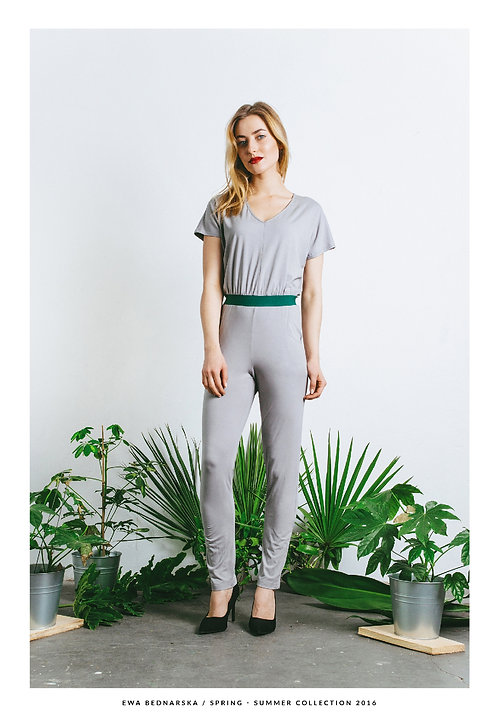 Kombinezon szary / Gray jumpsuit