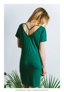 sukienka Y zielona