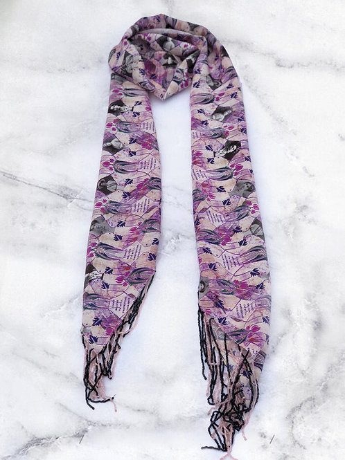 Purple Suffragette Scarf