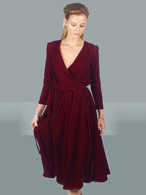 Eva Velvet Wrap Dress