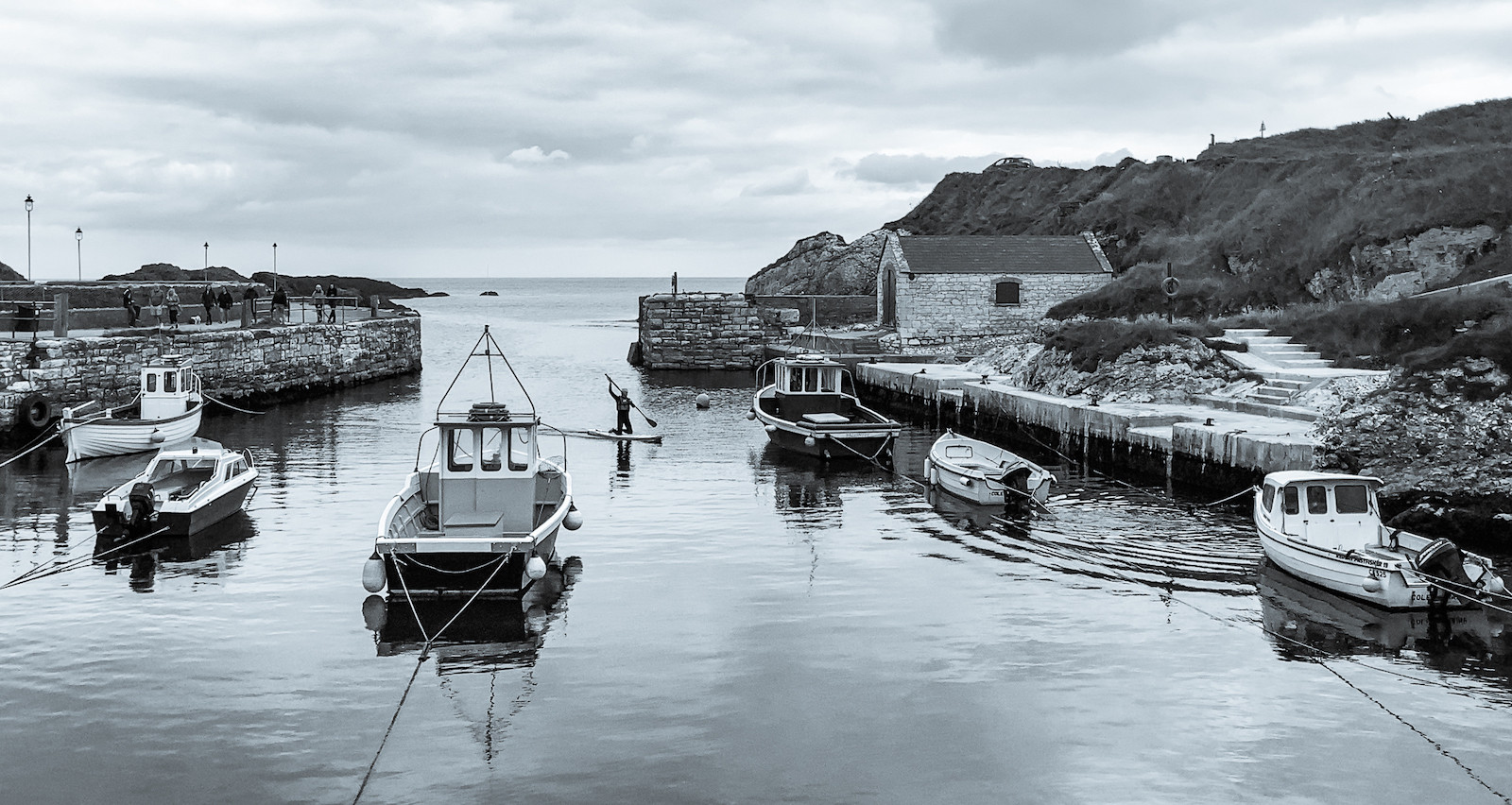 'Ballintoy Harbour' by Martin McKee ( 8 marks )