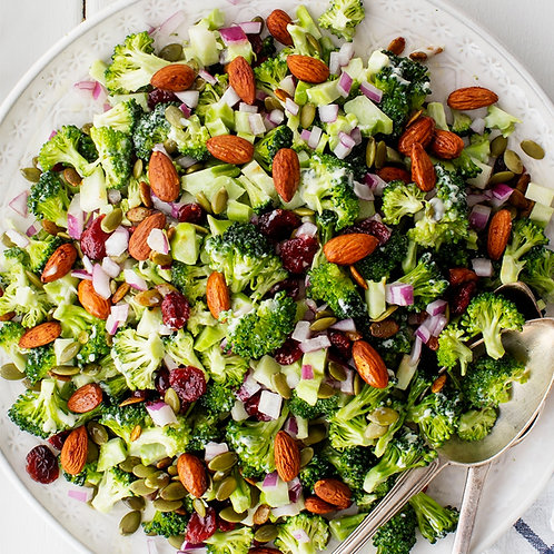BROCCOLI SALAD WITH TOASTED NUTS - FOR 4 PEOPLE
