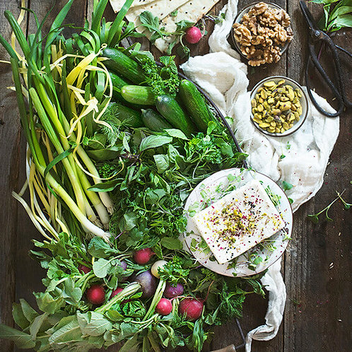 HERB, FETA & DIP PERSIAN SHARING BOARD - FOR 6 PEOPLE
