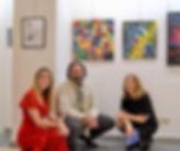 con la critica Monica Ferrarini e la Gallerista Anna Isopo