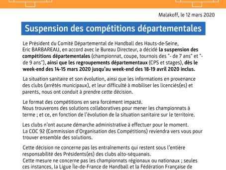 Arrêt définitif des championnats amateur 2019-2020