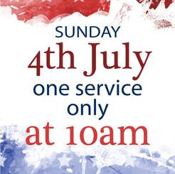 Service 4th July