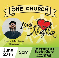 Let's worship together as 1 church!
