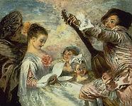 Watteau père des fêtes galantes intègre la musique dans un tableau sur trois... Conférence musicale par Marie-Aude Fourrier et son Parcours Musique