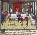 Ronde accompagnée de bas instruments XVe BnF illustre la conférence de Marie-Aude Fourrier Au temps des ménestrels