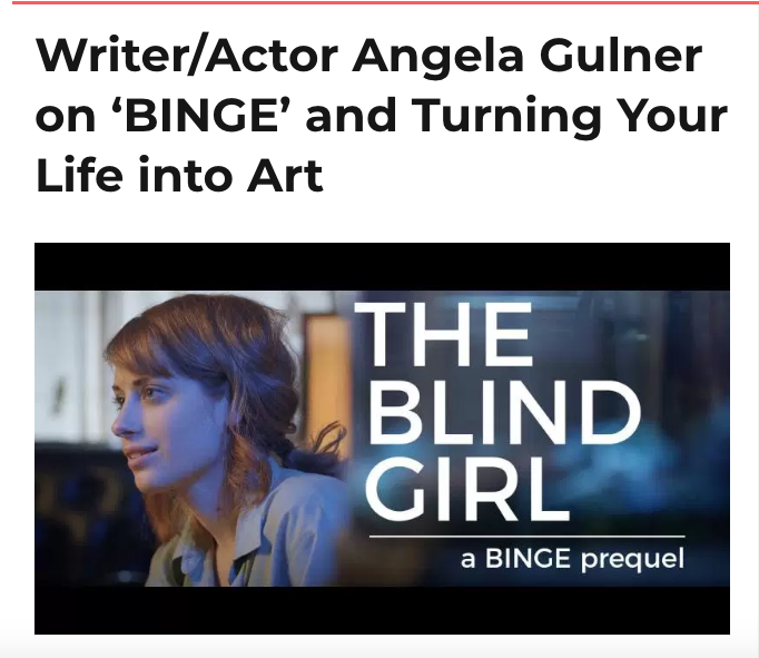 Becky Lang covers BINGE and The Blind Girl.