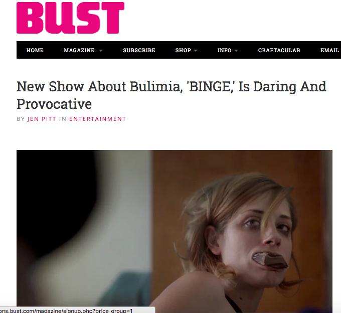 BUST Magazine endorses BINGE.