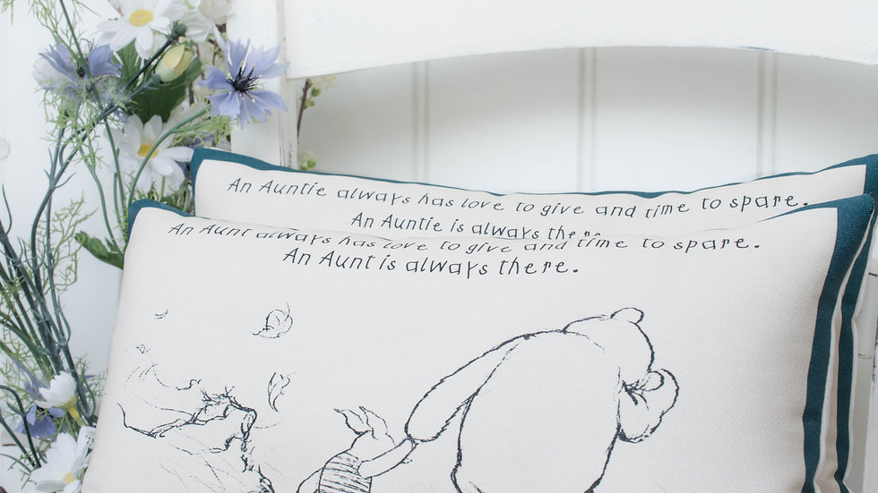 Winnie the Pooh Aunt or Auntie Complete Cushion Gift