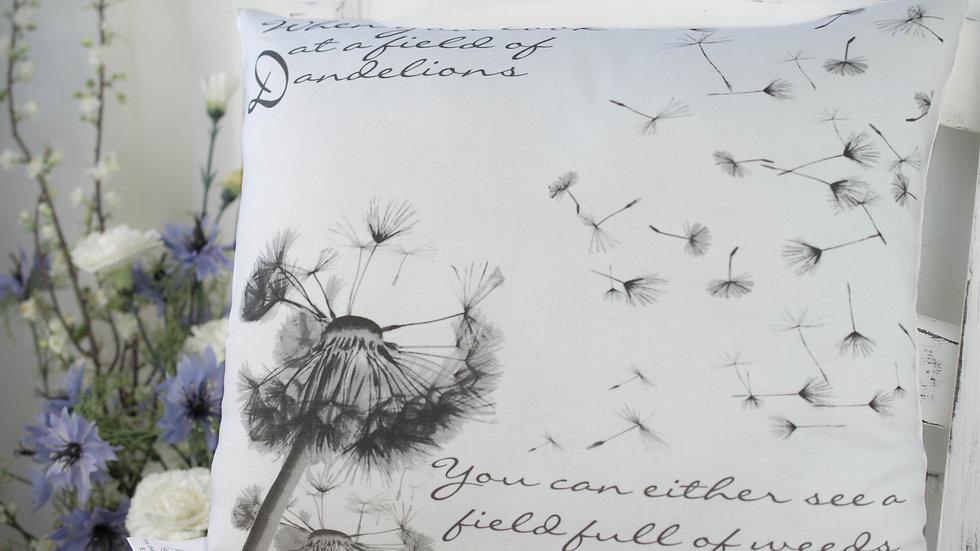 Dandelion Gift Cushion, Wishes Cushion