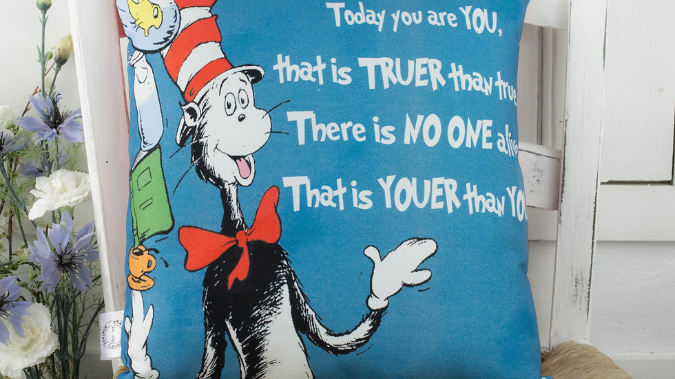 Dr Seuss Quote Gift cushion Youer Than You