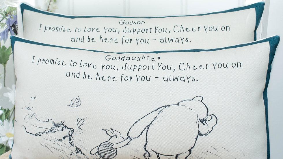 Winnie the Pooh Goddaughter / Godson Cushion