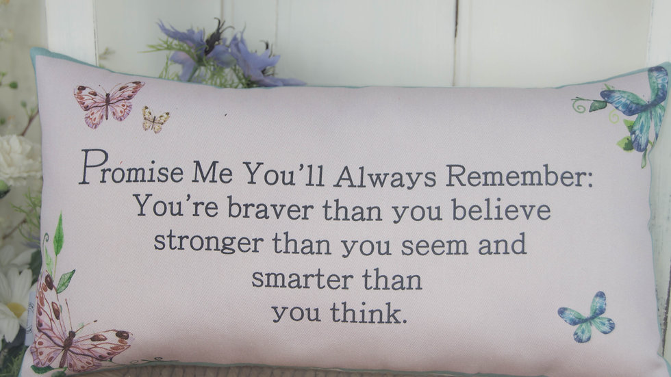 Promise Me You'll Always Remember Butterfly Cushion