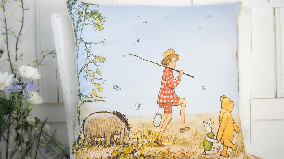 Winnie the Pooh and Friends Going Fishing Cushion