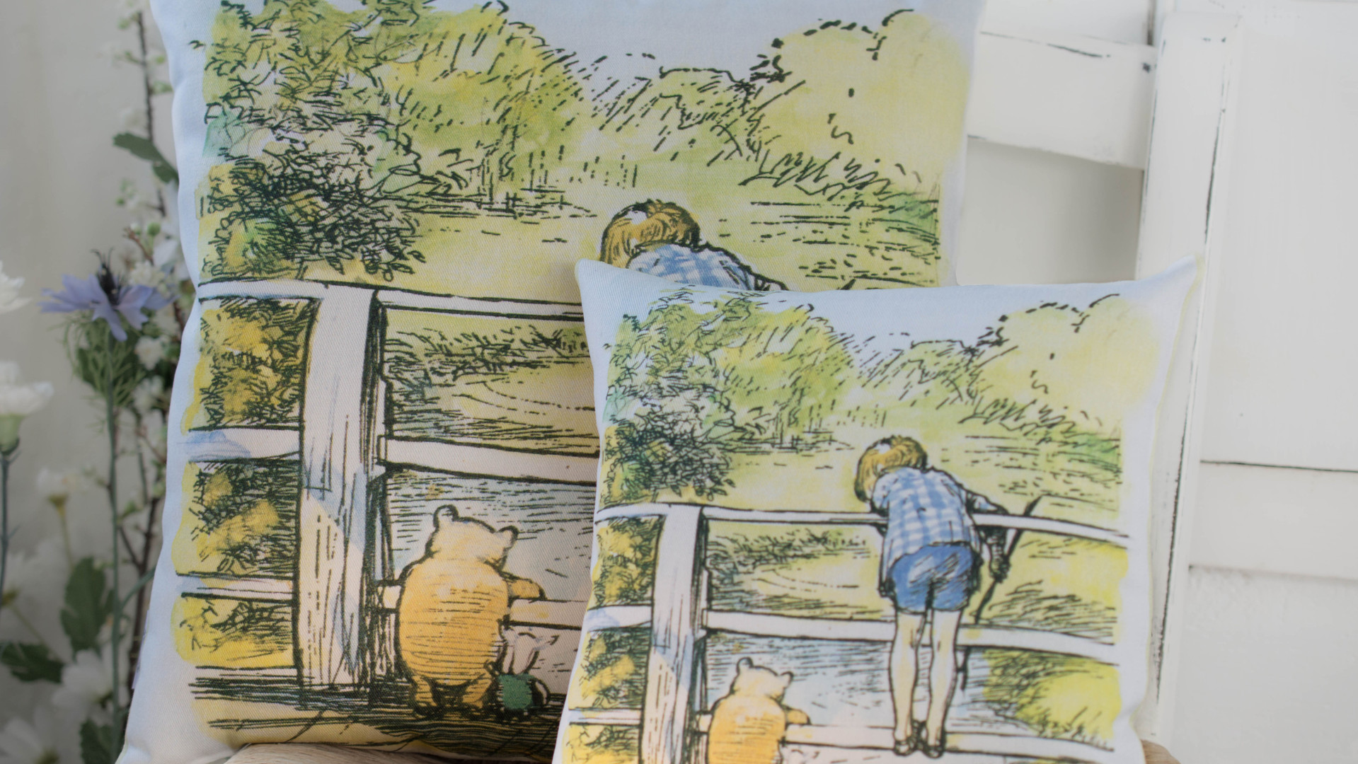 Pooh Sticks Bridge Cushion