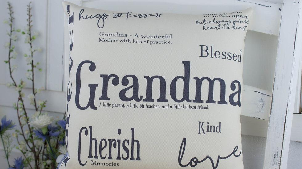 Grandma Gift Word Cushion