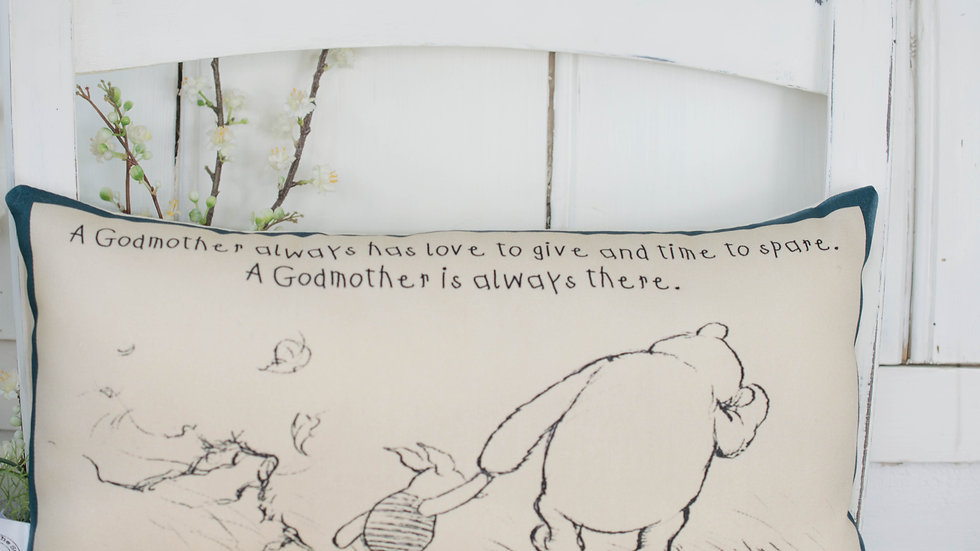Winnie the Pooh Godmother Cushion