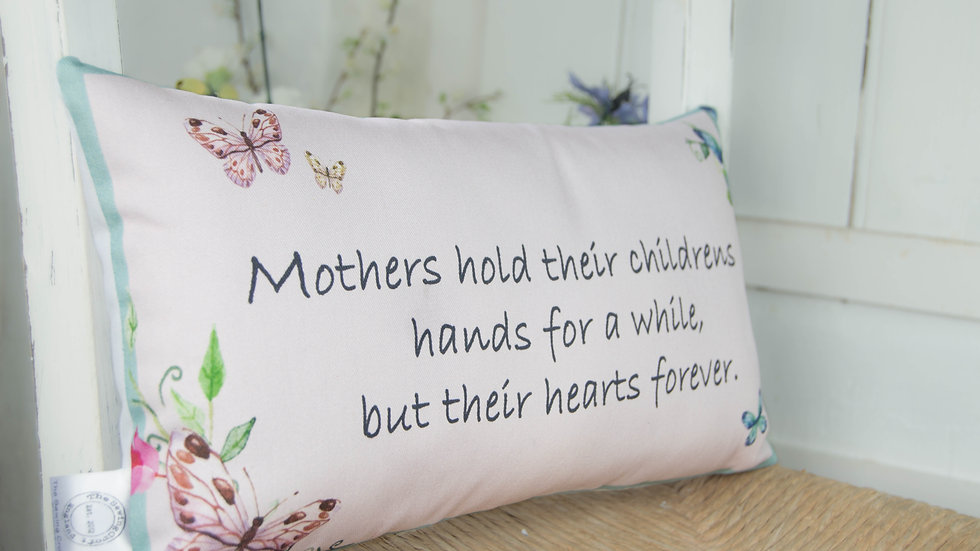 Mothers Hands Butterfly Complete Cushion