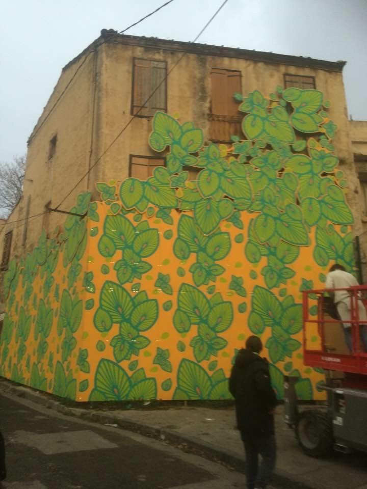 Fresque en peinture Rue Gaillard/Guichard