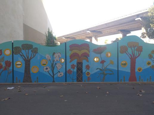 Fresque mosaïque bd National Marseille