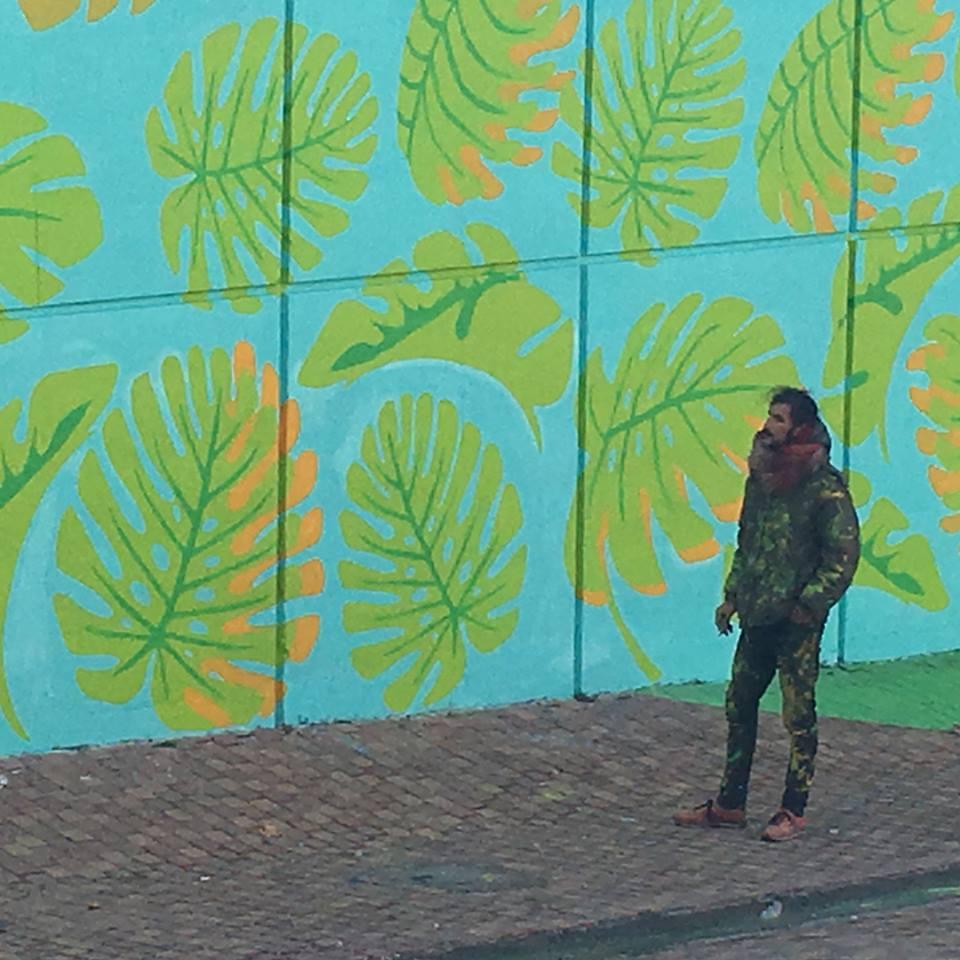 Fresque peinture Parc Bougainville