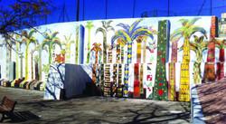 Fresque en mosaïque place César Baldaccini