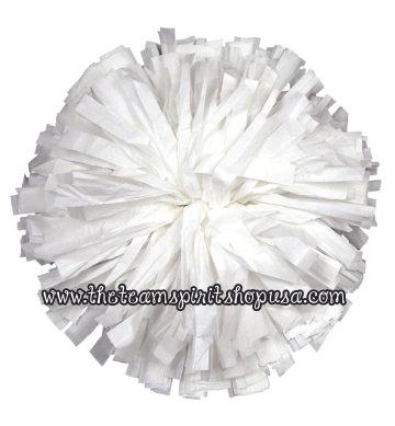 Plastic Show Pom- White