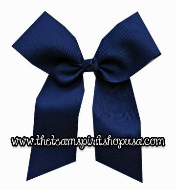 """Hair Bow- 3"""" Navy Blue"""