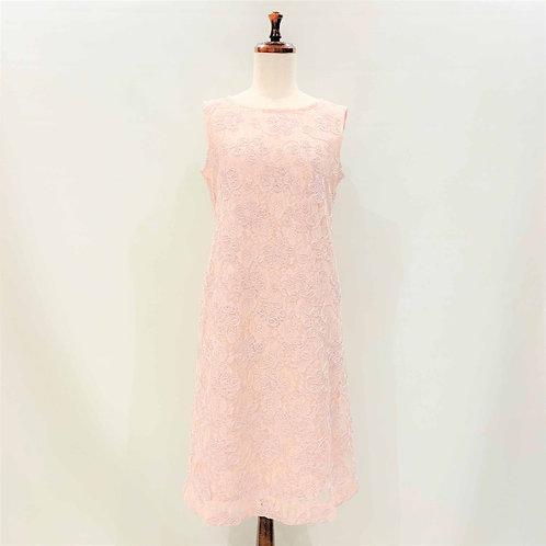 花柄レースワンピース(ピンク)