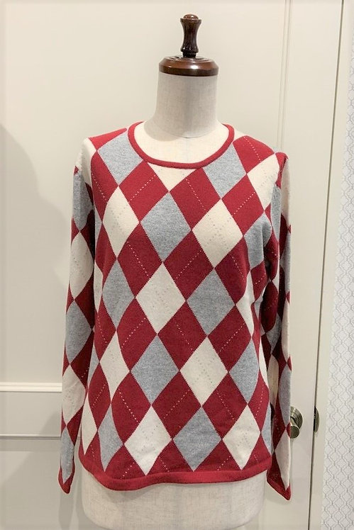 総アーガイルセーター