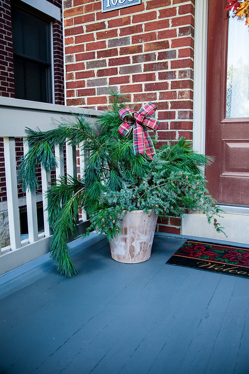 Holiday Porch Pot