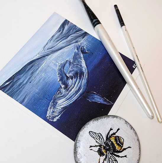Whale Print (8x8 Inches)