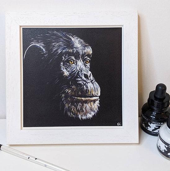 Chimpanzee Print (8x8 Inches)