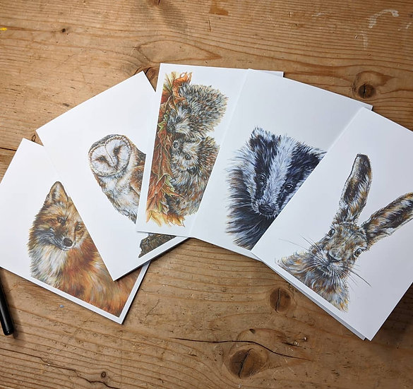 A6 Wildlife Cards - Pack of 5