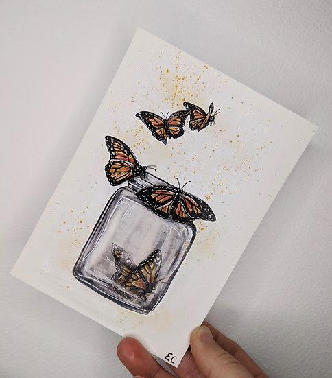A6 Mini Butterfly Prints