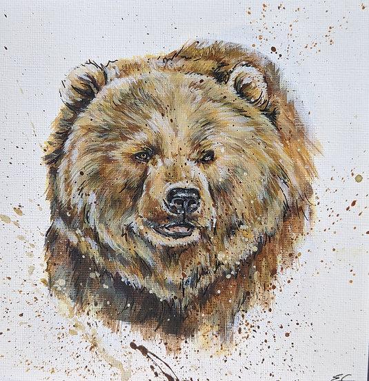 Original Grizzly Bear (6x6 inch)